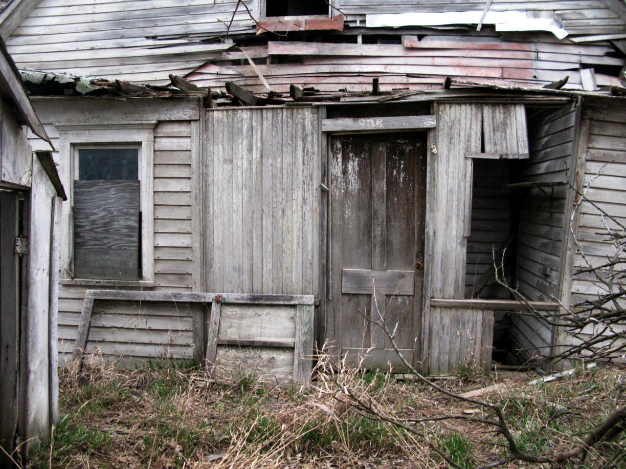 back door broken house