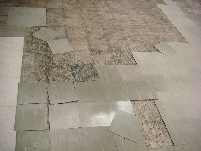 Damaged Asbestos Floor Tile Flickr Photo Sharing