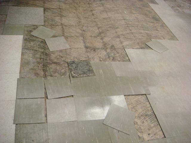 Asbestos Floor Tile Damaged Asbestos Floor Tile Flickr Photo Sharing