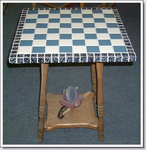 Mosaic Checkerboard Table