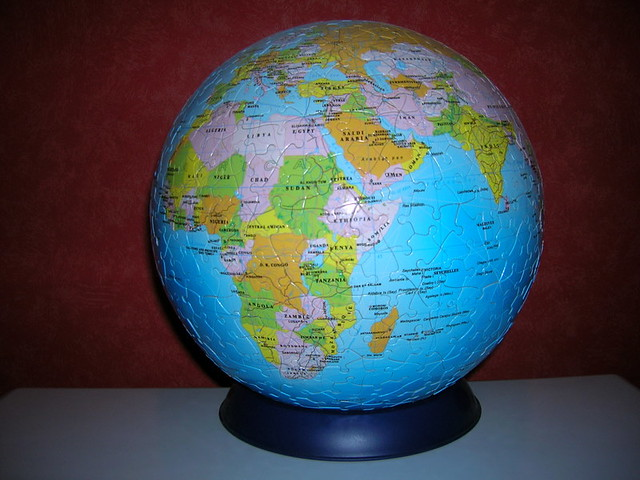 globe terrestre puzzle 3d flickr photo sharing. Black Bedroom Furniture Sets. Home Design Ideas