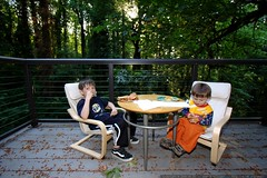 dinner outside on the back deck   turkey burgers and…