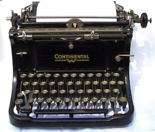 Antique German Continental Typewriter