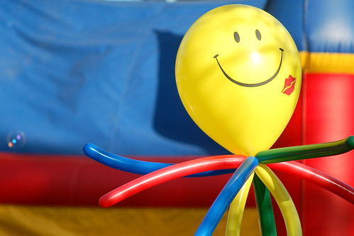 You know why this balloon is in such a good mood?