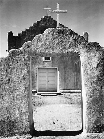 Ansel Adams - Church, Taos Pueblo