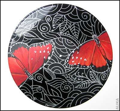 Painted Vinyl Record Butterflies 2 Flickr Photo Sharing