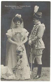 """Rosa Grünberg och Thorleif Allum i """"En valsdröm"""" (1908)"""