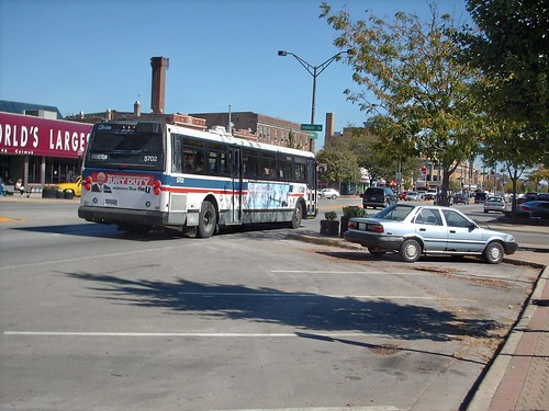 Eastbound CTA Flxible Metro transit bus on Cermak Road. Berwyn Illinois. Early October 2007. by Eddie from Chicago
