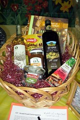 hamper, food, basket,
