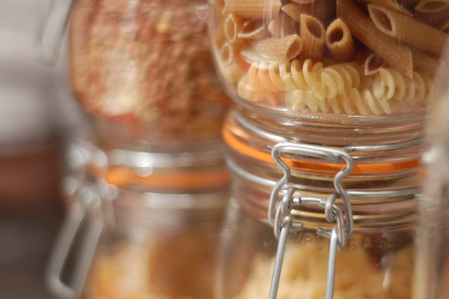 pasta in jars