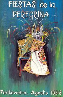 Pontevedra - 1993 - Festas da Peregrina (Fiestas de la Peregrina) - autor David Campos Dos Santos - cartel