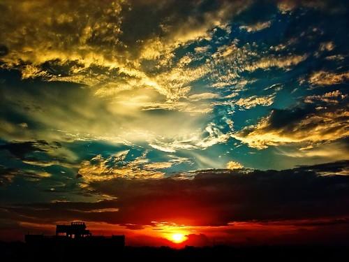 cameraphone sunset sky clouds photoshop hyderabad lightroom imobile902