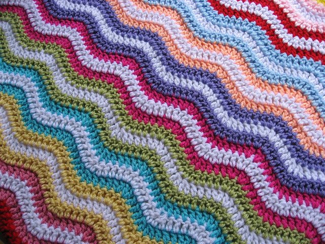 Scrap Crochet Ripple Blanket