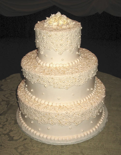 Ivory Pearl Wedding Cake | Flickr - Photo Sharing!