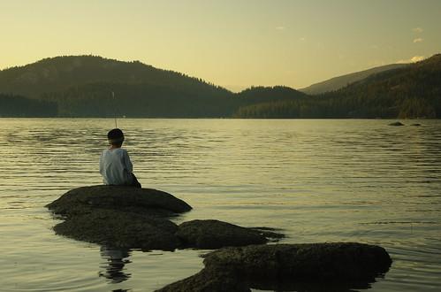 california boy sunset summer fishing pentax bsa shaverlake ilovecalifornia k200d campchawanakee pentaxk200d boysscoutcamp