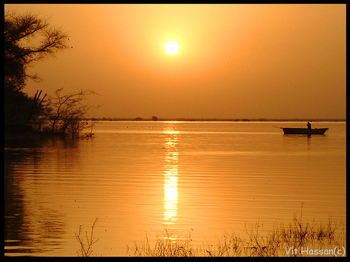 africa trees sunset reflection water silhouette reflections river boat fisherman fishermen image sudan silhouettes nil khartoum elshagara
