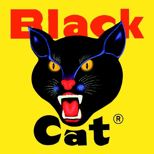 Black Cat Fireworks Logo - Square