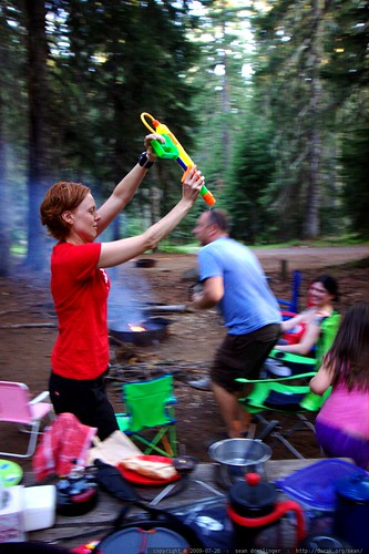any weapon can be confiscated and used against you   as with teagan's super soaker here    MG 9624