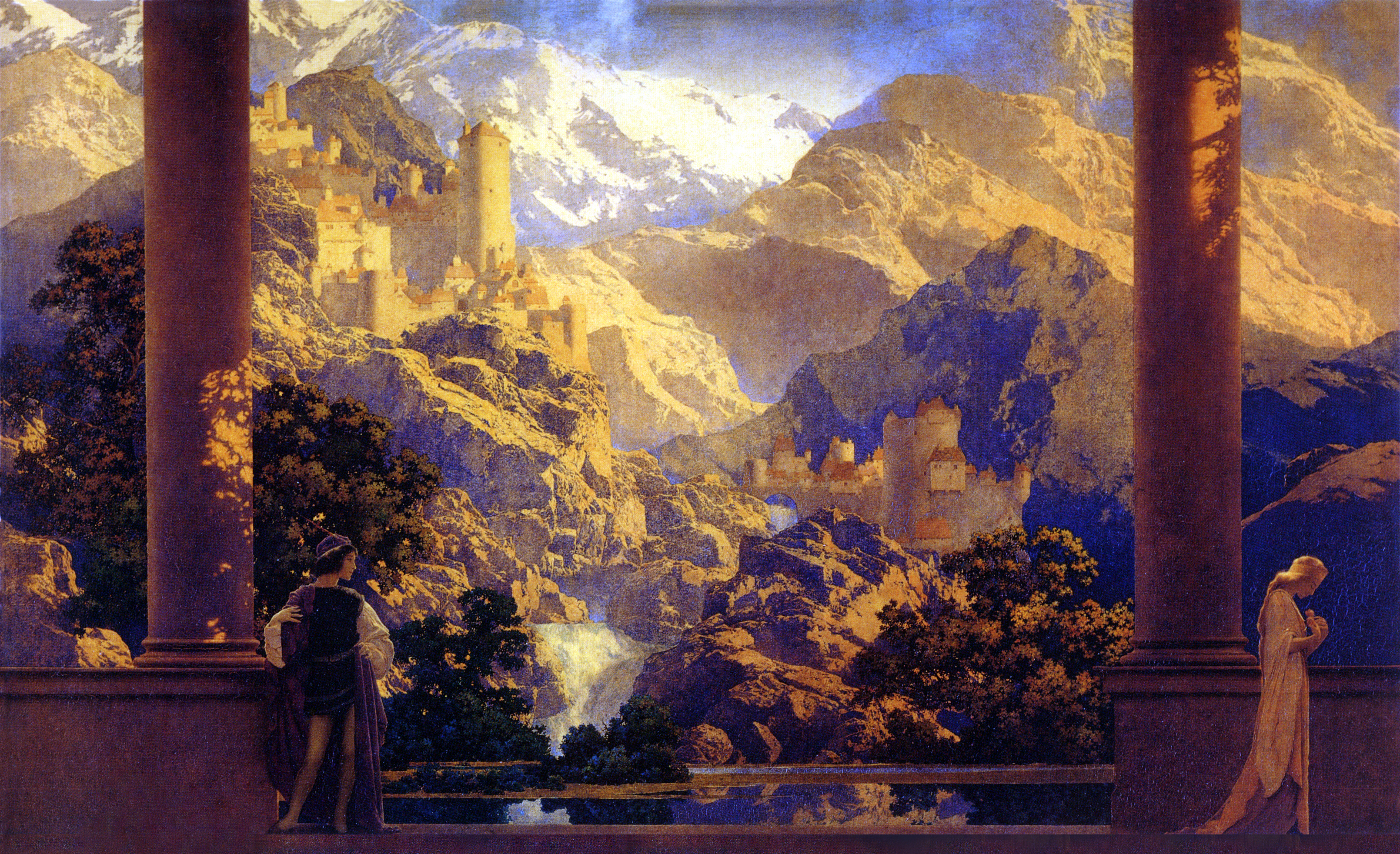 maxfield parrish romance 1922 flickr   photo sharing