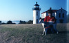 Tony and Whip at a lighthouse