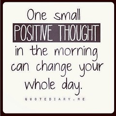 Let's THINK POSITIVE! GoodMorning Wednesday!