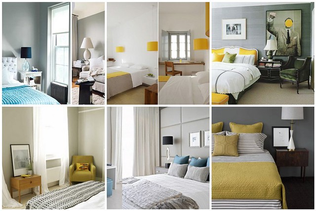 Yellow White And Grey Bedroom - Costa-Maresme.com