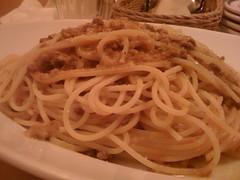 bucatini(1.0), spaghetti(1.0), pasta(1.0), spaghetti aglio e olio(1.0), naporitan(1.0), pici(1.0), food(1.0), dish(1.0), european food(1.0), chinese noodles(1.0), capellini(1.0), carbonara(1.0), bigoli(1.0), cuisine(1.0),