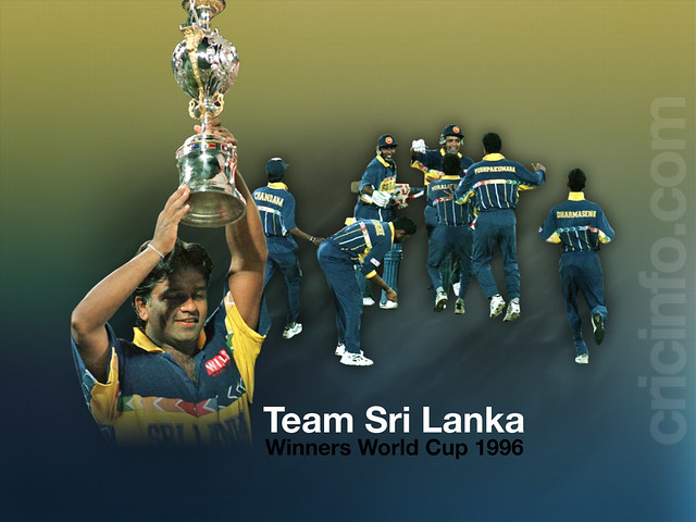 Sri Lanka Cricket World Cup 1996 | Flickr - Photo Sharing!