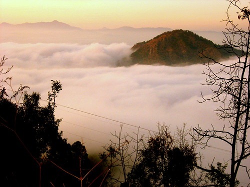 morning trees mountains nature beautiful clouds sunrise fantastic view assam heanvenly