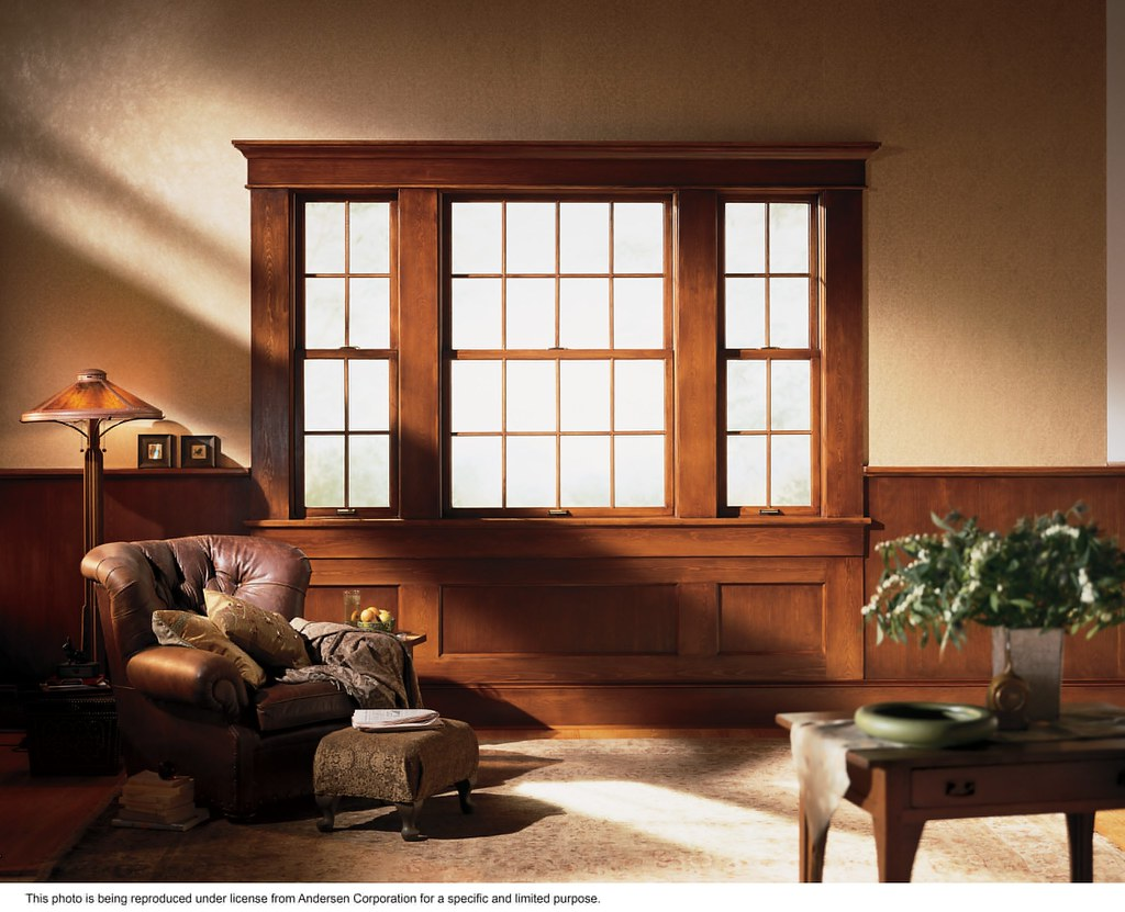 Andersen windows energy efficient 400 series woodwright for Wood double hung andersen 400 series