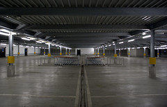 floor, hall, building, hangar, parking,