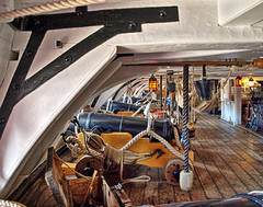 The lower Gundeck on HMS Victory
