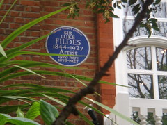 Photo of Luke Fildes blue plaque