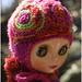 fuchsia helmet hat by megipupu