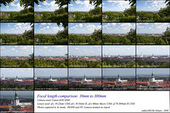 Focal Length Comparison: 10 to 300mm