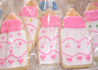 Pink Baby Bottle Cookies