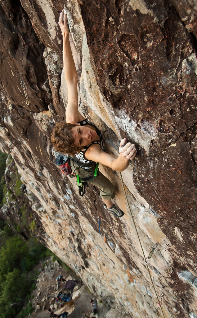 Rock climbing at Glasshouse Mountains