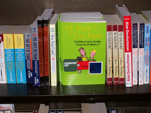 I'll Push You Steer book on the shelves at Barnes & Noble