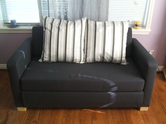 furniture, loveseat, room, sofa bed, living room, couch, studio couch,