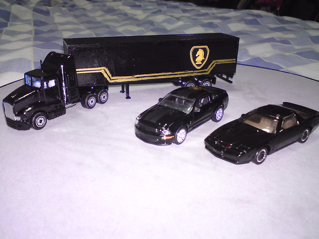 Knight Rider KITT with FLAG semi