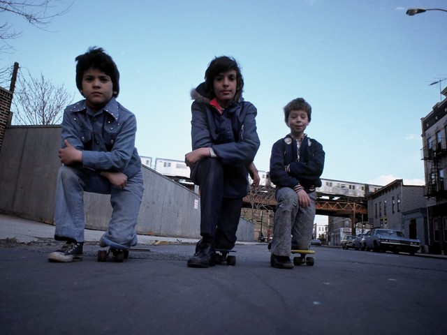 1976 Brooklyn - Skateboards Old School Boys - 1976 70s Graffiti El Train