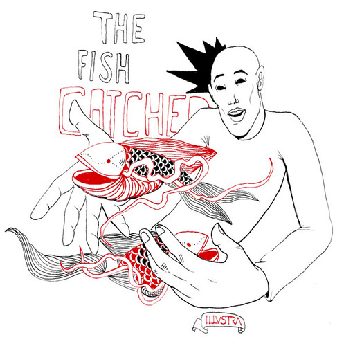 """The Fish Catcher"" Illustration. ILLVSTRA - Artwork: Bailon"