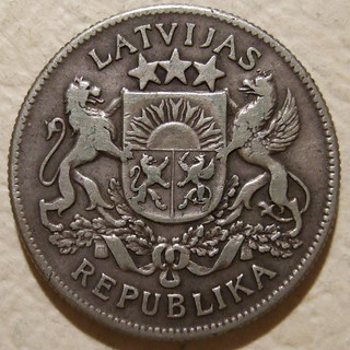 REPUBLIC OF LATVIA ---2 LATI 1925 b