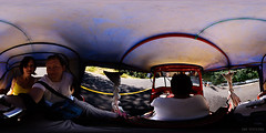 riding a moto taxi (360-degree photo)