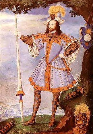Hilliard, Nicholas (1547-1619) - 1590c. Portrait of George Clifford, Earl of Cumberland