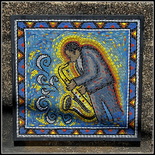 Saxophone in Glass Tile