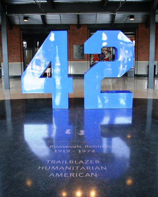 Jackie Robinson's retired # 42 at Citi Field