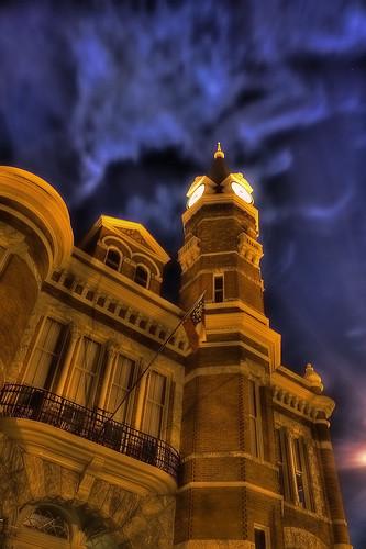 old city sky canon dark georgia eos rebel hall cool ominous brunswick nighttime after hdr xsi topaz rosepetal adjust 450d