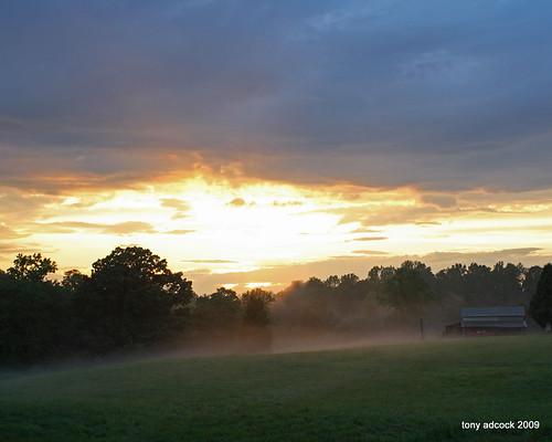 sunset sky mist fog clouds landscape afterthestorm scenic canonef28mmf28