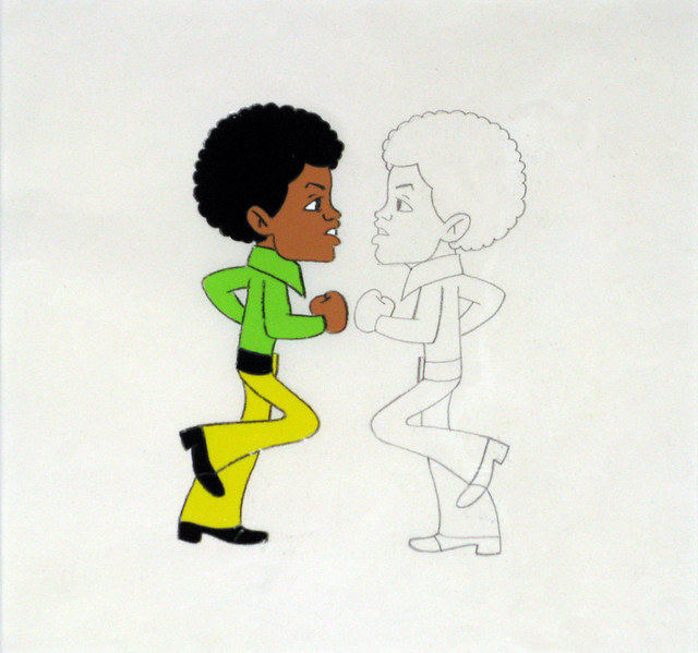 Michael Jackson Cartoon Animation Cel